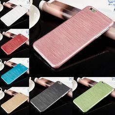 """7 Colori! lusso Ultra Sottile Cristallo PC Spazzolato Copertura Dura di Caso per il iphone 6 4.7 """"/6 PIÙ 5.5 pollice Del Telefono caso Accessori"""