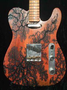 15,000 volts through the mahogany wood body Fender namm 2016