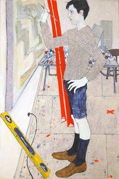 Hope Gangloff - Ballpoint Pen Art - Figurative Painting - 2015
