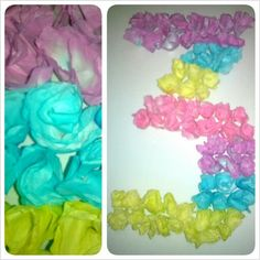 DIY coffee filter flower poster I made for my daughter's Neon glow party. Looks awesome under black light.
