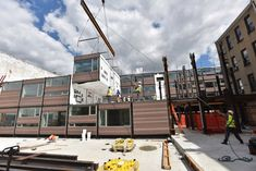 New York's modular dream is, albeit in fit and starts, coming true.The increasingly popular process of modular construction involves fabricating structural. Container Architecture, New York S, Prefab, Home And Family, Street View, Construction, House, Buildings, Popular