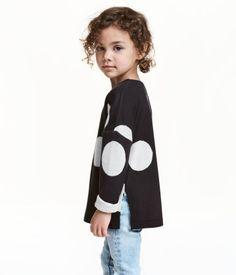 Fine-knit Sweater | Black/dotted | Kids | H&M US