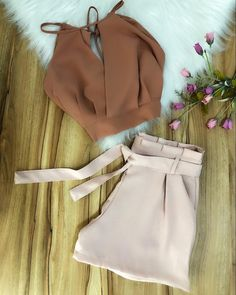 Cute Casual Outfits, Girly Outfits, Short Outfits, Stylish Outfits, Summer Outfits, Casual Shorts, Teen Fashion Outfits, Cute Fashion, Vetement Fashion