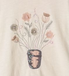 Appliqué flowers top - View all - T - shirts - Girl | 4 - 14 years - KIDS | ZARA United Kingdom