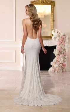 6182 Dramatic Low Back Wedding Dress by Stella York