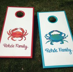 These custom, hand painted cornhole boards can be designed, built and painted by us! Any occasion, corn hole boards complete the party! They
