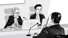 Courtroom illustration, Breda [03-03-2017]
