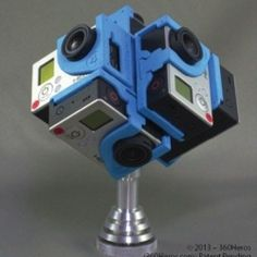 Full speherical rig for the gopro. Take amazing videos and photos. Never miss a thing by not just shooting a panorama but a complete sphere of everything around you.