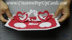 1192 best handmade pop up cards images on pinterest in 2018 folded how to make a valentines day pop up card twisting hearts m4hsunfo