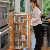 """Rev-A-Shelf 5243 Series - Chrome - Wire Pantries by Rev-A-Shelf. $809.04. 450 lb. Rated. Basket Width 20 5/8"""". Depth 20"""". Frame Height 43 3/8"""" to 50 3/4"""". Chrome Wire Baskets. Four Basket Pull-Out Pantry"""