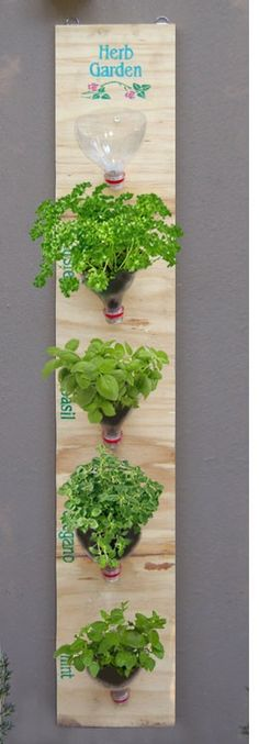 space saving herb garden