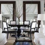 dining rooms - two leaning mirrors