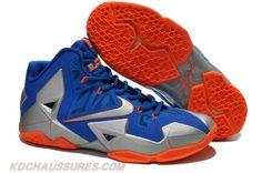 Nike Lebron XI (11) Bleu argent Orange