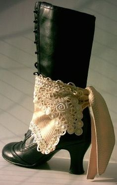 BEAUTIFUL SPATS!...legwarmers for boots, and heels.