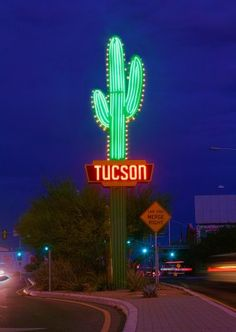 Welcome to Tucson, Arizona. Tucson is a city in Arizona's Sonoran Desert. It is surrounded by multiple mountain ranges, including the Santa Catalinas. Performance Artistique, Road 66, New Mexico, Neon Licht, Vintage Neon Signs, Tucson Arizona, Arizona Cactus, Roadside Attractions, Old Signs