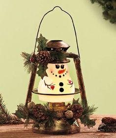 Seasonal Lighted Snowman Lantern Home Decor, Price: $19.99