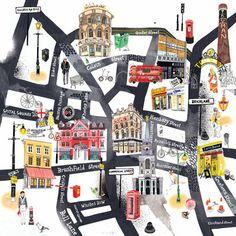 Hennie Haworth East End Map prints