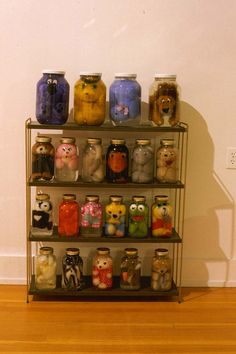 """Iain Baxter&'s """"Animal Preserve"""" series. Stuffed animals, embalmed in distilled water."""