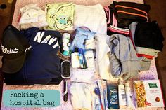 Packing a hospital bag for birth