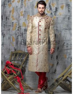 Sherwani For Men Wedding, Indian Outfits, Indian Clothes, Groom Looks, Wedding Store, Groom Outfit, Indian Ethnic, Online Clothing Stores, Wedding Designs