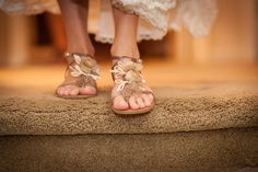 This whimsical garden wedding calls for these dainty, gorgeous sandals for the bride!