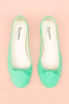 Mint ballet flats!