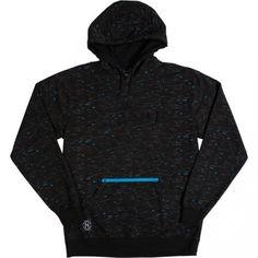 Neff Neo Neon Hoodie Mens Pullover Sweatshirt Black All Over Print  #Neff #Hoodie