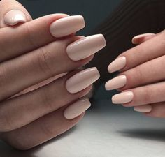 Nackte Nägel sind die absolut besten - Edeline Ca. Naked nails are the absolute best - # nails Nude Nails, Matte Nails, My Nails, Glitter Nails, Gel Powder Nails, Best Acrylic Nails, Squoval Acrylic Nails, Formal Nails, Dream Nails