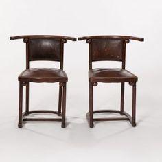Furniture - Josef Hoffmann - J. & J. Kohn - 'Fledermaus' Pair Of Chairs 1905 - Design 7