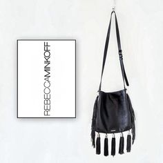 REBECCA MINKOFF Handbag Cross-body, fringe at the bottom and at the sides. Black color. Brand new. Great Condition. Hurry up, don't miss out!  ✨OFFERS ARE WELCOME ✨ Rebecca Minkoff Bags Crossbody Bags