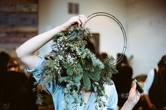 Want to make a wreath this year. Not sure this is how they're to be worn!