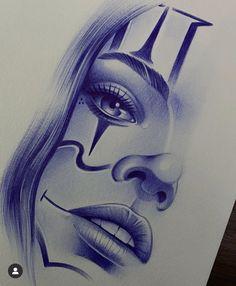 Chicanas Tattoo, Clown Tattoo, Forarm Tattoos, Dark Tattoo, Life Tattoos, Body Art Tattoos, Pencil Art Drawings, Tattoo Drawings, Graffiti Drawing