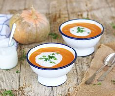 Crema de calabaza y boniato asados | Hoy comemos sano Cantaloupe, Pure Products, Fruit, Recipes, Food, Bb, Instagram, 4 Ingredients, Vegetarian Recipes