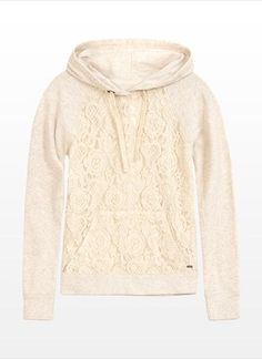 Lace Popover Hoodie - Comfy AND Cute!!!
