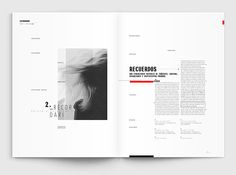 Editorial · Presencias invisibles on Behance Graphic Design Layouts, Book Design Layout, Print Layout, Design Posters, Essay Layout, Booklet Layout, Brochure Layout, Editorial Design, Editorial Layout