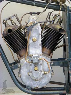 Vintage Motorcycles Classic 1925 Anzani v-twin race bike engine, not sure whose frame this is, perhaps Temple again. - vintage bike of the day: 1925 anzani v-twin race bike Motos Vintage, Vintage Bikes, Vintage Cars, Antique Motorcycles, American Motorcycles, Classic Motors, Classic Bikes, Motorcycle Engine, Old Bikes