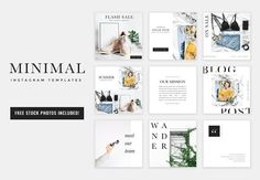 Minimal Instagram Templates by Isn't She Lovely Designs on @creativemarket