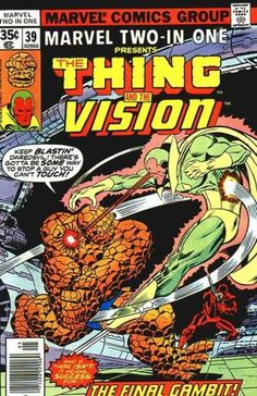 marvel two in one covers | Marvel Two-In-One 39 - The Thing - The Vision - Daredevil - The Final ...