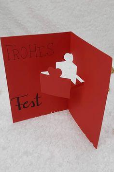 Weihnachtskarten selber basteln in wenigen Minuten Logos, Stencils, Advent Calenders, Bricolage, Christmas, Logo