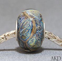SRA European Charm Bead Handmade Lampwork Glass by AKDlampwork, $24.00