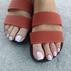 Image may contain: shoes and closeup Pretty Toe Nails, Sexy Nails, Sexy Toes, Pretty Toes, Beautiful Toes, Beautiful Nail Designs, Really Long Nails, Long Toenails, Foot Toe