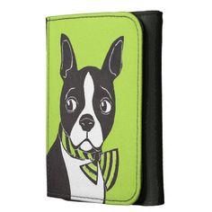 Boston Terrier Wallet; Abigail Davidson Art; ArtisanAbigail at Zazzle