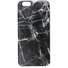 Casetify Black Marble iPhone 6 / 6s Case (590 UYU) ❤ liked on Polyvore featuring accessories, tech accessories, phone cases, phones, cases, tech, black marble, apple iphone case, slim iphone case and transparent iphone case
