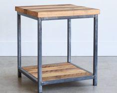 Industrial Side Table, Rustic End Tables, Reclaimed Wood Nightstand, Wood Dresser, Low Shelves, Old Wood, Bedside, Pallet, Etsy