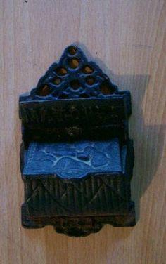 Antique Cast Iron Match Stick HOLDER MATCHES With CHERUB Angel Design  http://stores.ebay.com/eStuffMart