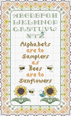 Alphabets and Sunflowers