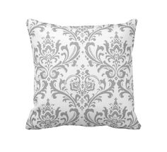 7 Sizes Available: Pillow Cover Throw Pillow Decorative Pillow Grey Pillow Gray Pillow Damask Pillow Sofa Pillow Grey Home Decor Gray Decor by ReedFeatherStraw on Etsy https://www.etsy.com/listing/179256910/7-sizes-available-pillow-cover-throw