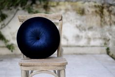 Navy blue velvet pillow 16 by fulyad on Etsy