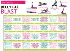 28-day challenge calendar