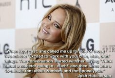 @CatnippMellark: Josh Hutcherson on Jennifer Lawrence